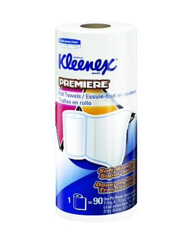 KLEENEX PREMIERE Kitchen Roll Towels, 10 2/5 x 11, White, 70/Roll