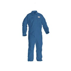KLEENGUARD A20 Coveralls, MICROFORCE Barrier SMS Fabric, Denim, LG