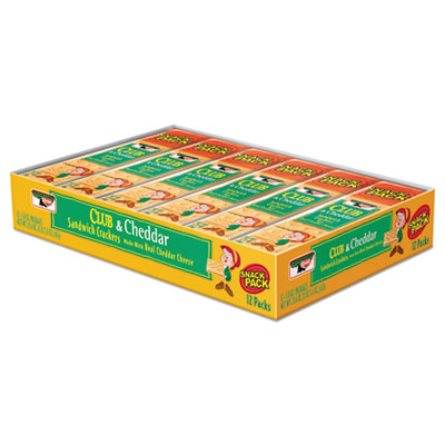 Keebler Sandwich Cracker, Club & Cheddar, 12/Box