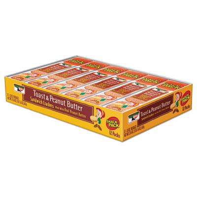 Keebler Sandwich Crackers, Toast & Peanut Butter, 12/Box