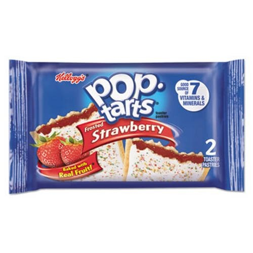 Kellogg's Pop Tarts, Frosted Strawberry, 3.39 oz, 2/Pack, 6 Packs/Box