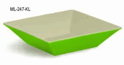 G.E.T. Enterprises ML-247-KL Keylime Melamine 2.5 Qt. Square Bowl 10""