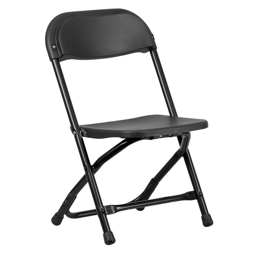 Flash Furniture Y KID BK GG Kids Black Plastic Folding Chair LionsDeal