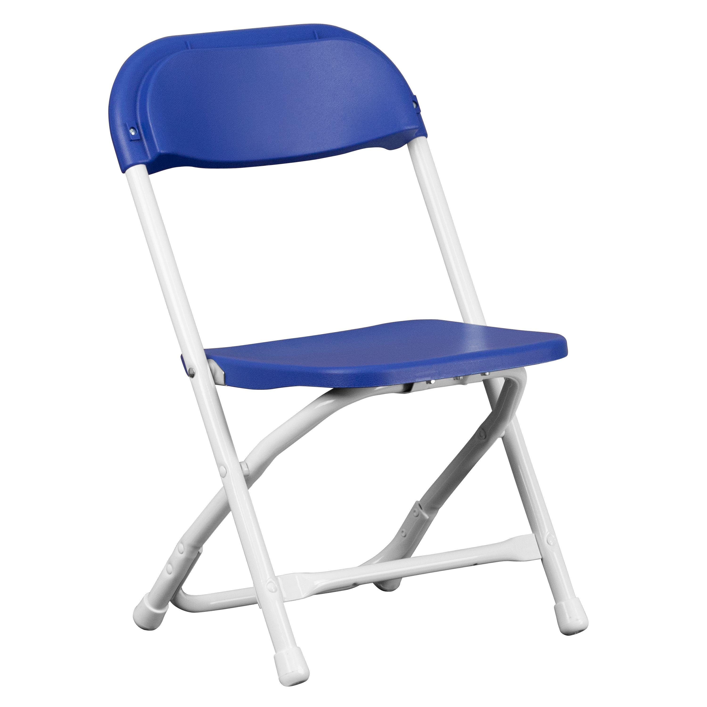 Flash Furniture Y-KID-BL-GG Kids Blue Plastic Folding Chair