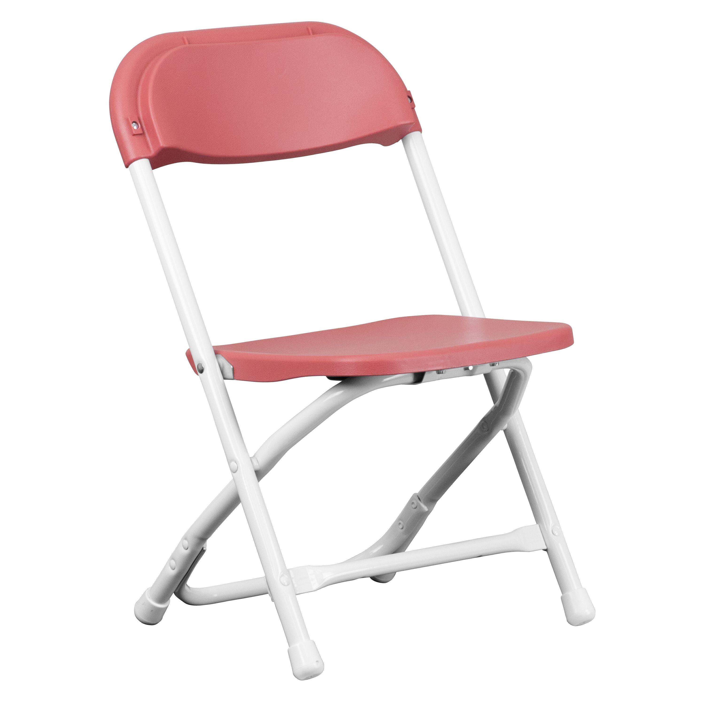 Flash Furniture Y-KID-BY-GG Kids Burgundy Plastic Folding Chair