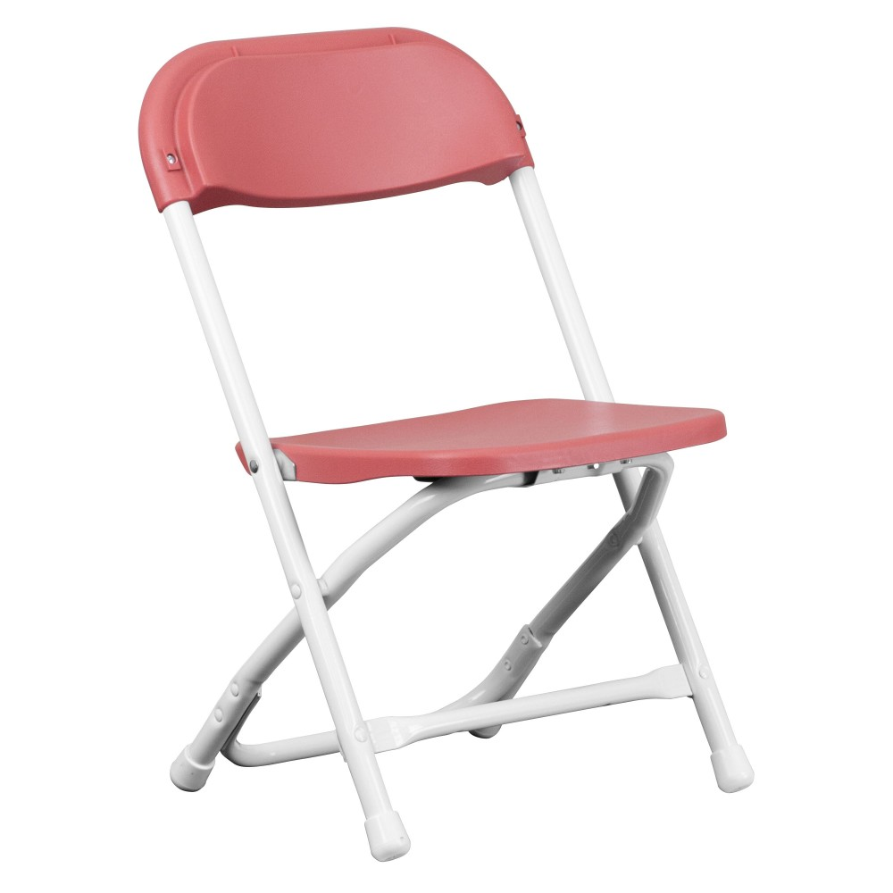 Flash Furniture Y KID BY GG Kids Burgundy Plastic Folding Chair LionsDeal
