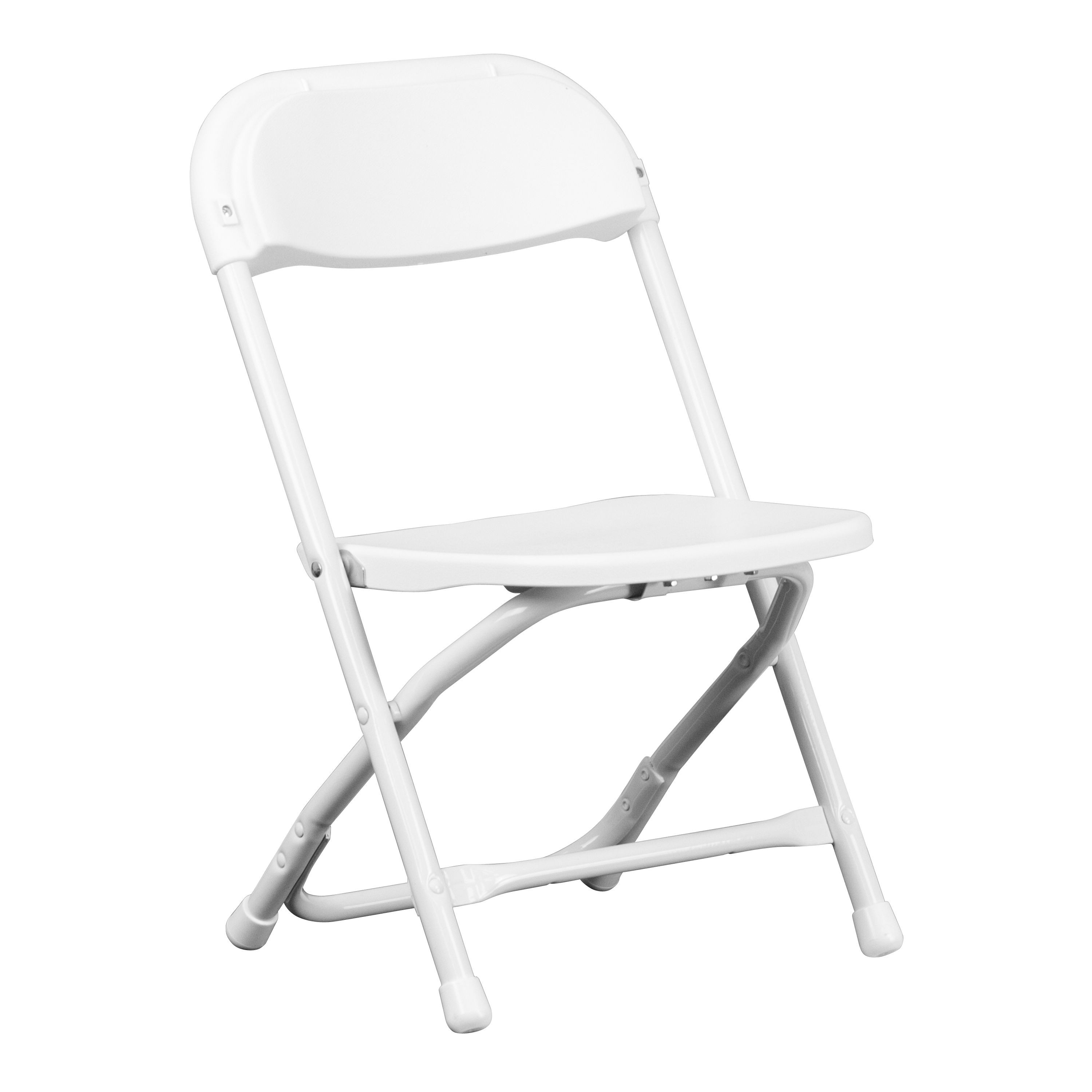 Flash Furniture Y KID WH GG Kids White Plastic Folding Chair LionsDeal