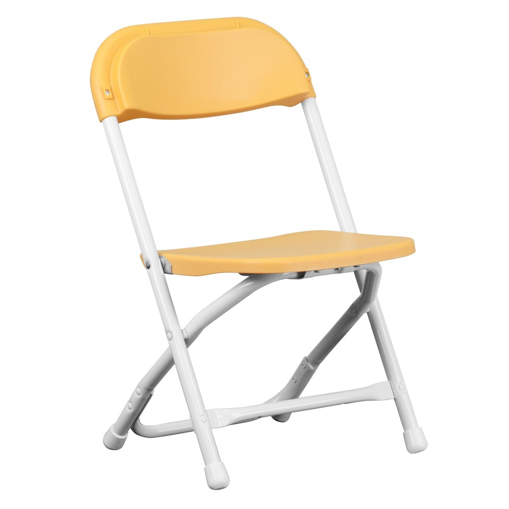 Flash Furniture Y KID YL GG Kids Yellow Plastic Folding Chair LionsDeal