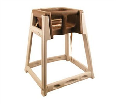 Franklin Machine Products  280-1478 Kidsitter Brown/Tan High Chair with Seat Belt