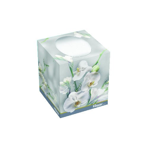 Kimberly Clark Professional KLEENEX� BOUTIQUE Facial Tissue, Floral box, 8.4 X 8.4, 2-Ply, White
