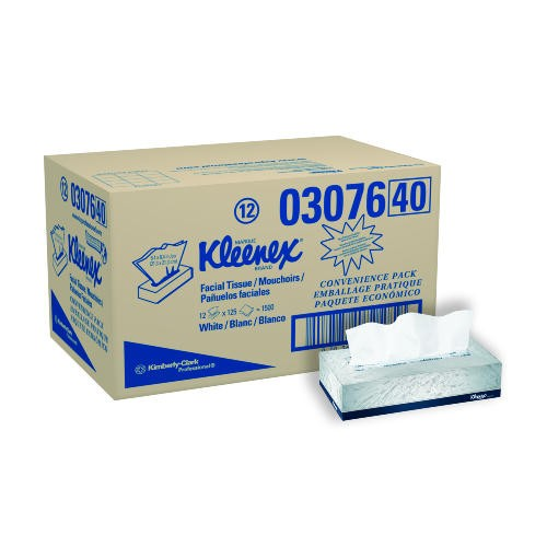 Kimberly Clark Professional KLEENEX� Facial Tissue, 8.4 X 8.4, 2-Ply, White