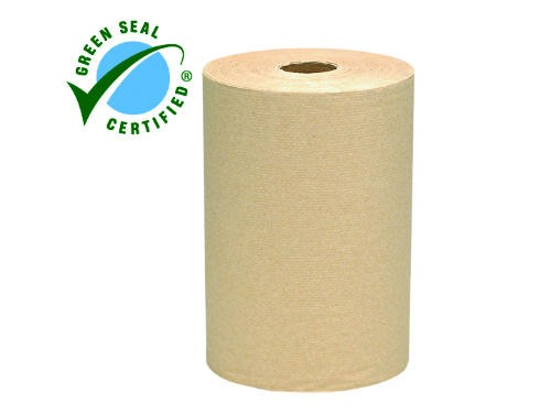 Kimberly Clark Professional SCOTT 100% Recycled Fiber Hard Roll Paper Towels, Natural