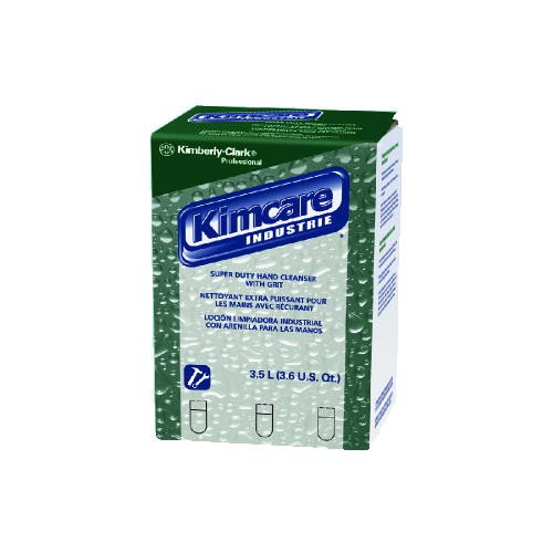 Kimberly Clark Professional Super Duty Hand Cleanser with Grit, 3.5 L, Green Herbal Scent