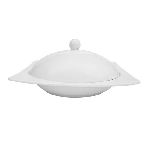 CAC China KSE-210 Square Pasta Bowl with Lid 20 oz.