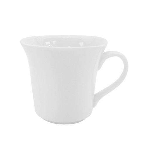 CAC China KSE-54 Kingsquare White Porcelain Cup 4.5 oz.