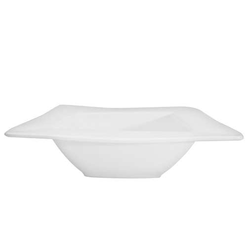 CAC China KSE-110 Kingsquare White Porcelain 40 oz. Deep Bowl