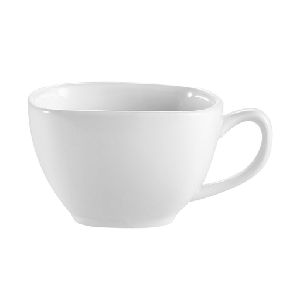 CAC China KSE-1 Kingsquare White Porcelain 8 oz. Cup