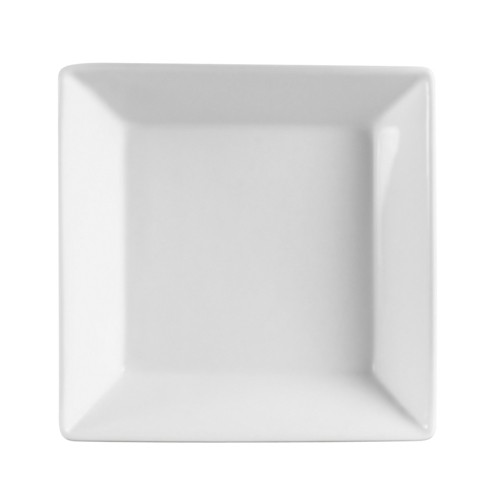 CAC China KSE-B10 Kingsquare White Porcelain 86 oz. Square Bowl