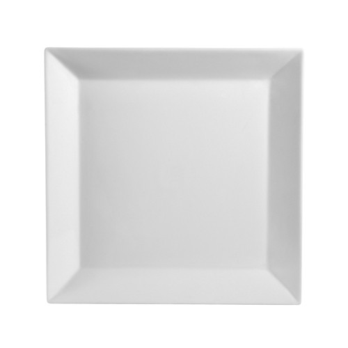 Kingsquare White Porcelain Square Deep Plate - 16