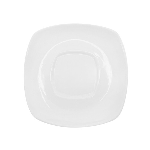 Kingsquare White Porcelain Square Saucer - 4-1/2