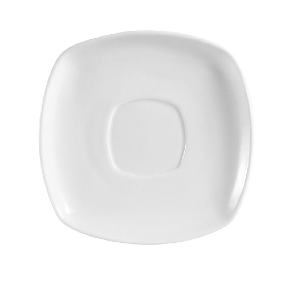 Kingsquare White Porcelain Square Saucer - 6