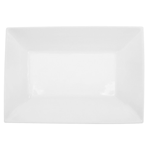 Kingsquare White Rectangular Coupe Platter - 11-3/4