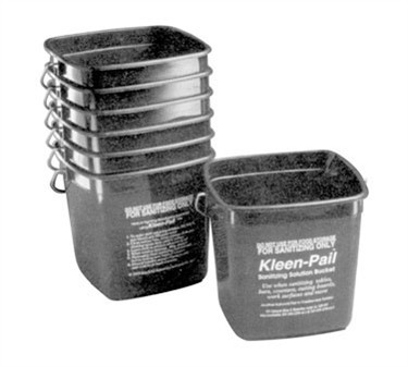 Franklin Machine Products  280-1284 Kleen-Pail 6 Qt. Red Sanitizing Solution Bucket