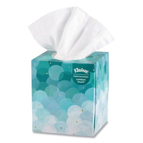 Kleenex Boutique White Facial Tissue, 2-Ply, Pop-Up Box, 36 Boxes/Carton