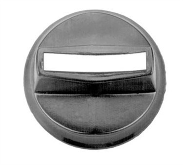 Franklin Machine Products  130-1065 Knob (2Od, Dstem, Blk Plst )