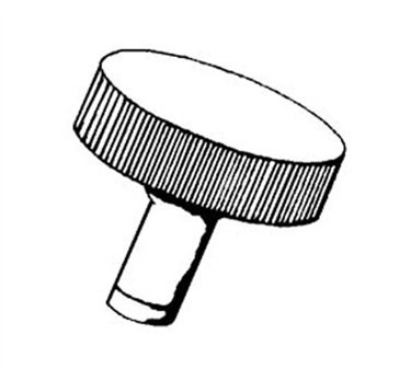 Franklin Machine Products  191-1040 Knob, Center Plate (1/4-20Thd F)