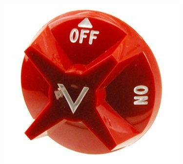 Knob, Gas Valve (Red, Off/On)