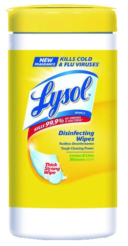 LYSOL� 4-in-1 Disinfecting Wipes, Citrus, 80 Count