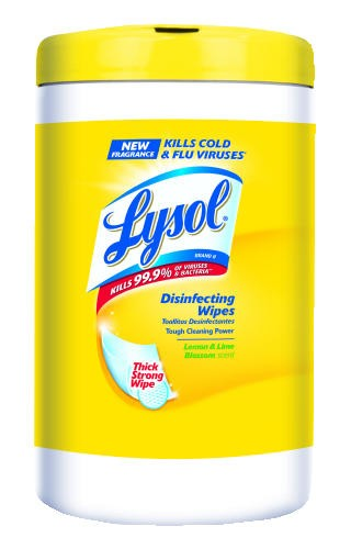 LYSOL� Disinfecting Wipes, Citrus, 110 Count