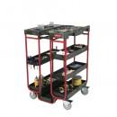 Ladder Cart, 500 Lb Maximum, 31.5L Steel & Foam, Black