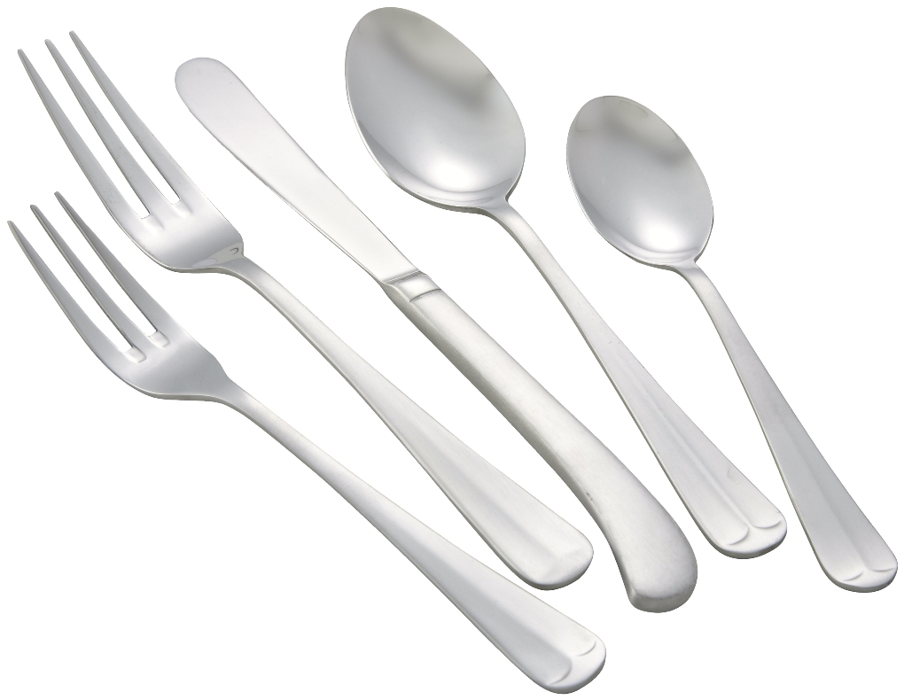 Winco LAFAYETTE-HVY Lafayette Heavy Weight 5-Piece Place Setting for 12 (60/Pack)