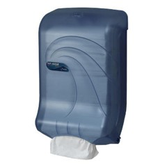 Large Capacity Ultrafold Multi/C-Fold Towel Dispenser, 11 3/4 x 6 1/4 x 18, Blue