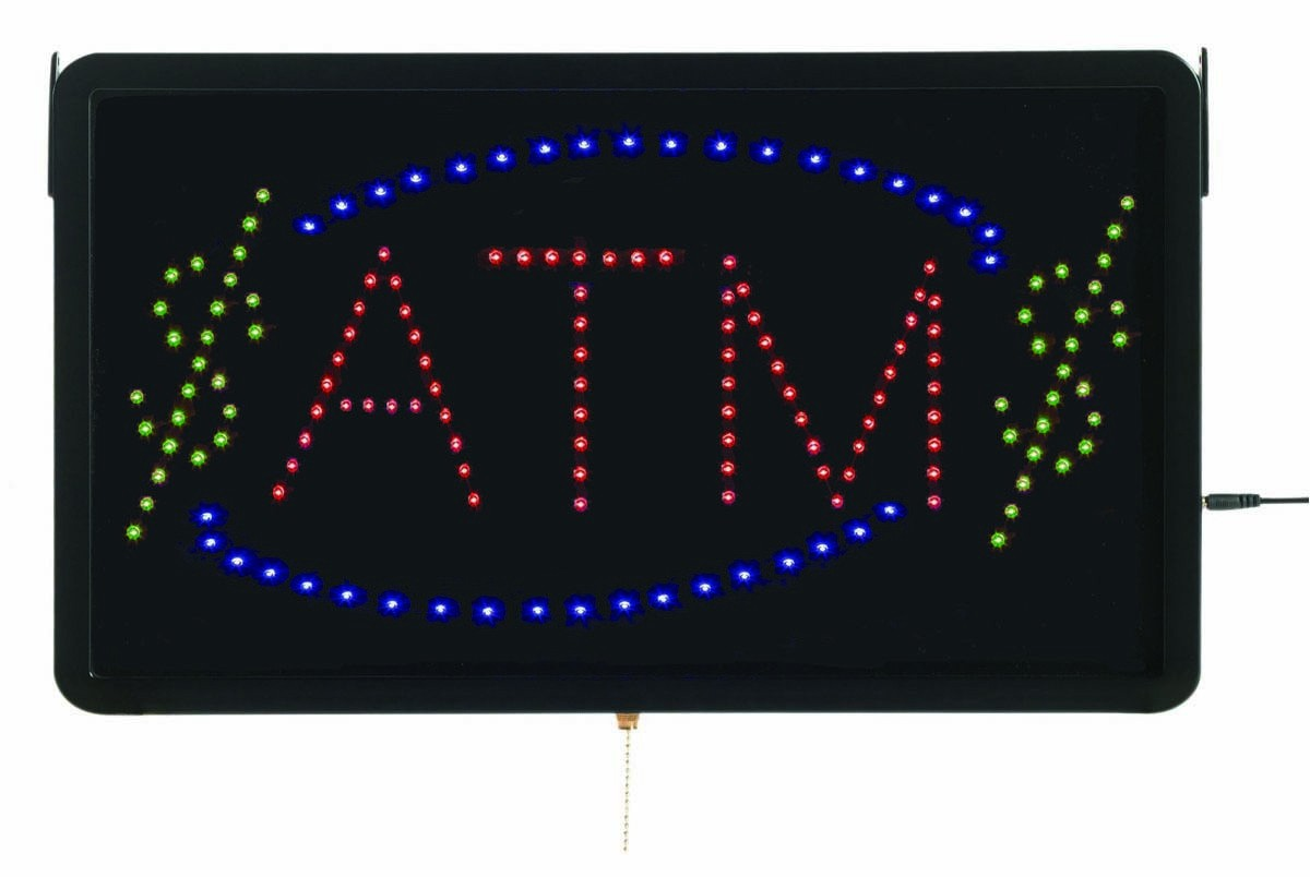 """Aarco Products ATM10L High Visibility Large LED Sign ATM 22""""W x 13""""H"""