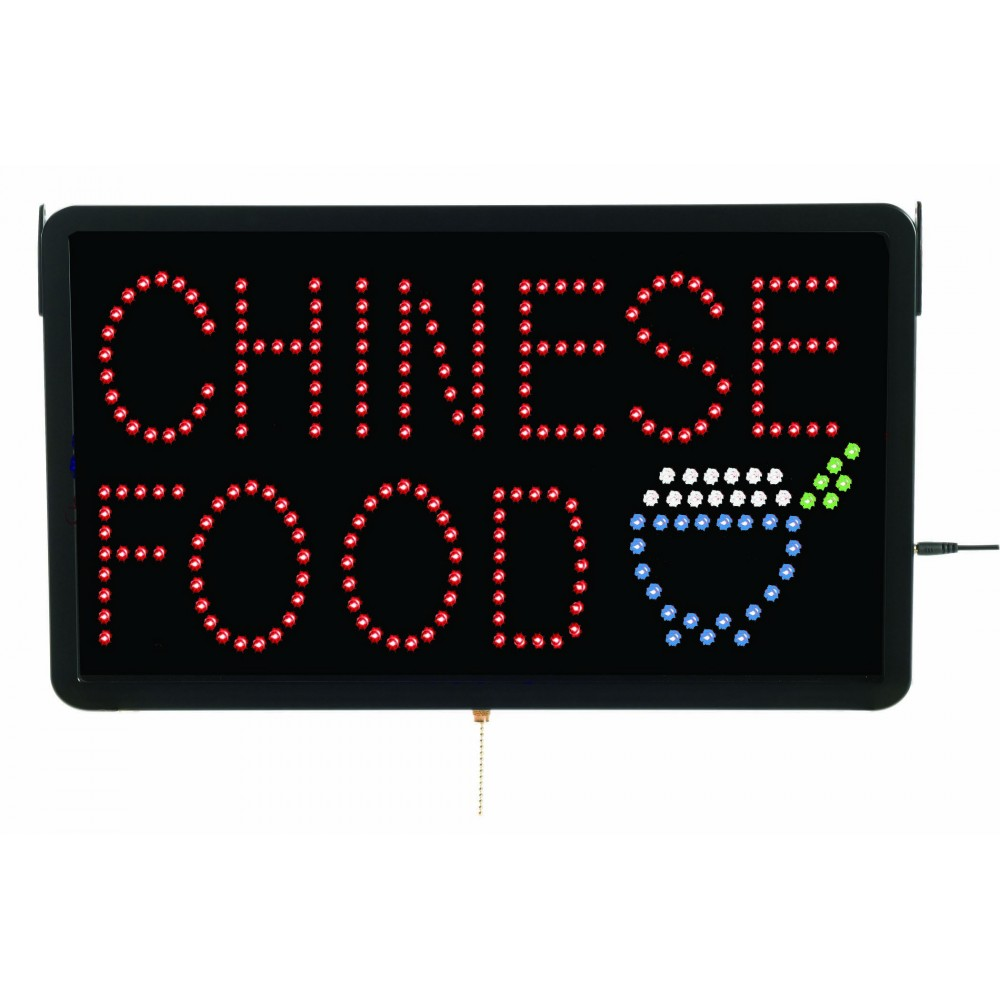 Aarco Products CHI09L Large LED Sign Chinese Food