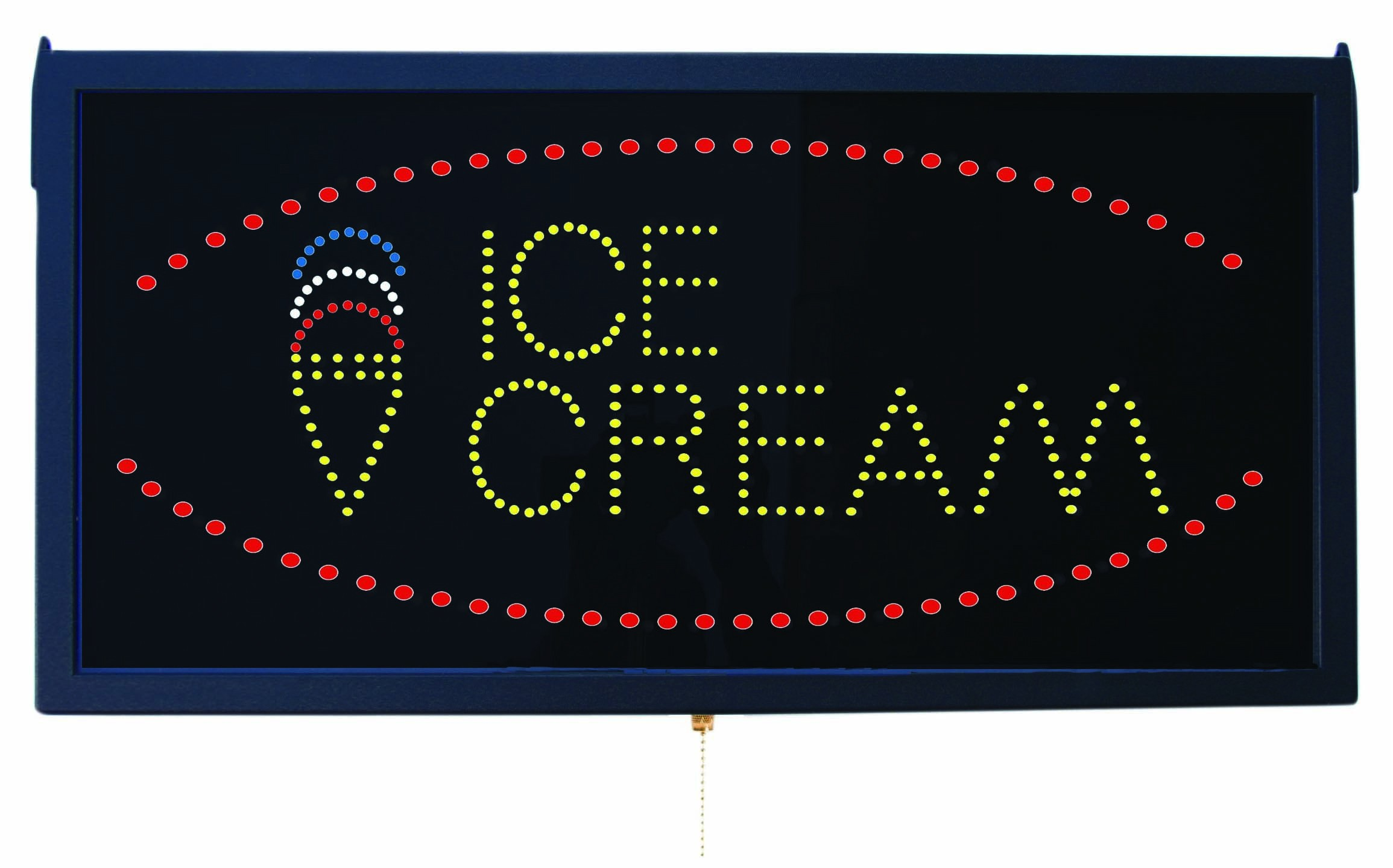 Aarco Products ICE13L High Visibility LED Ice Cream Sign