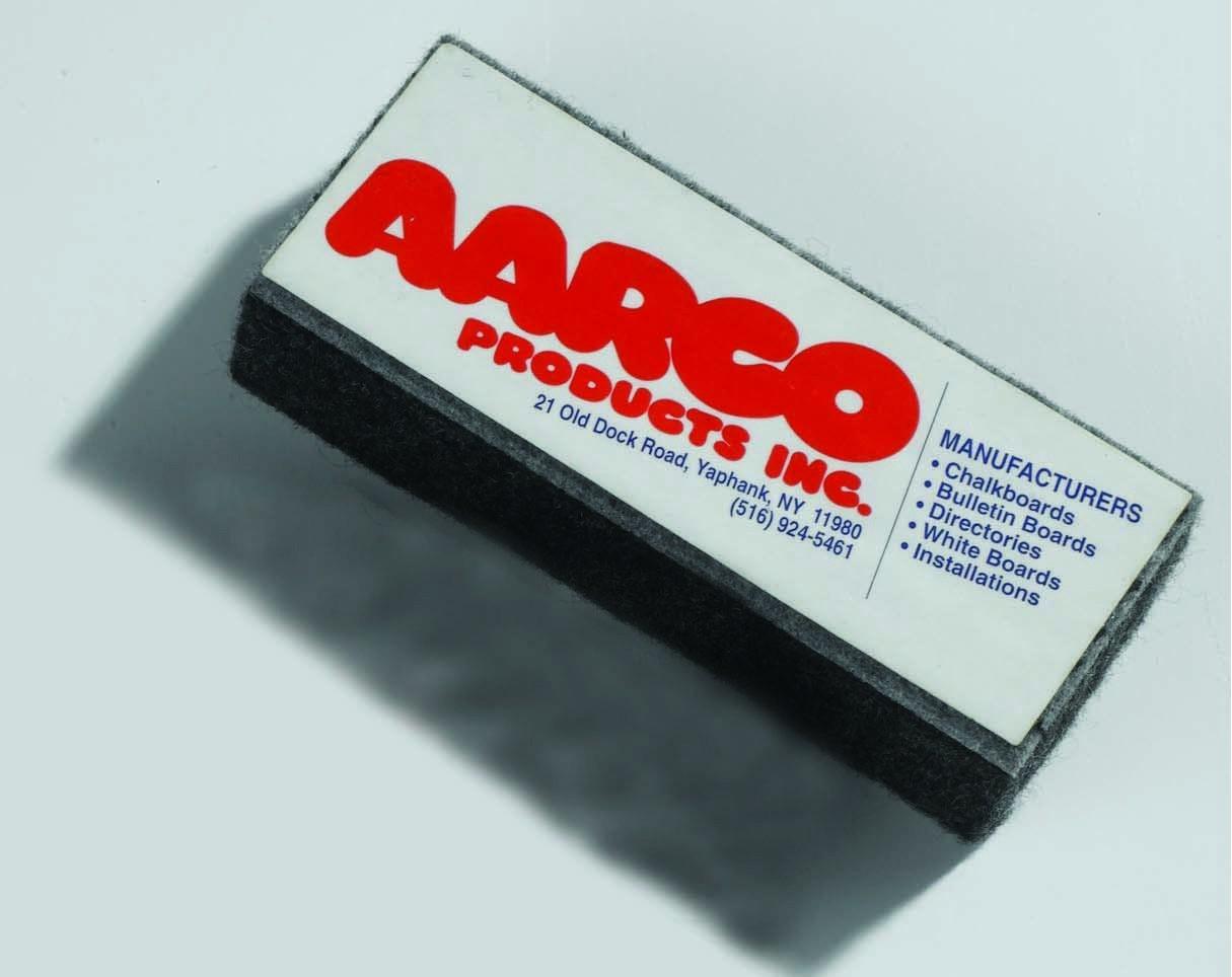 Aarco Products E1 Felt Chalkboard Eraser, 2''W x 5''H x 1''D