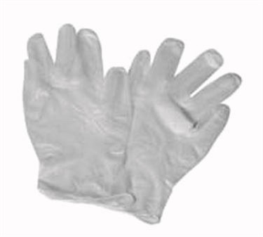 Large Pre-Powdered Vinyl Disposable Gloves (100 Pieces Per Box)