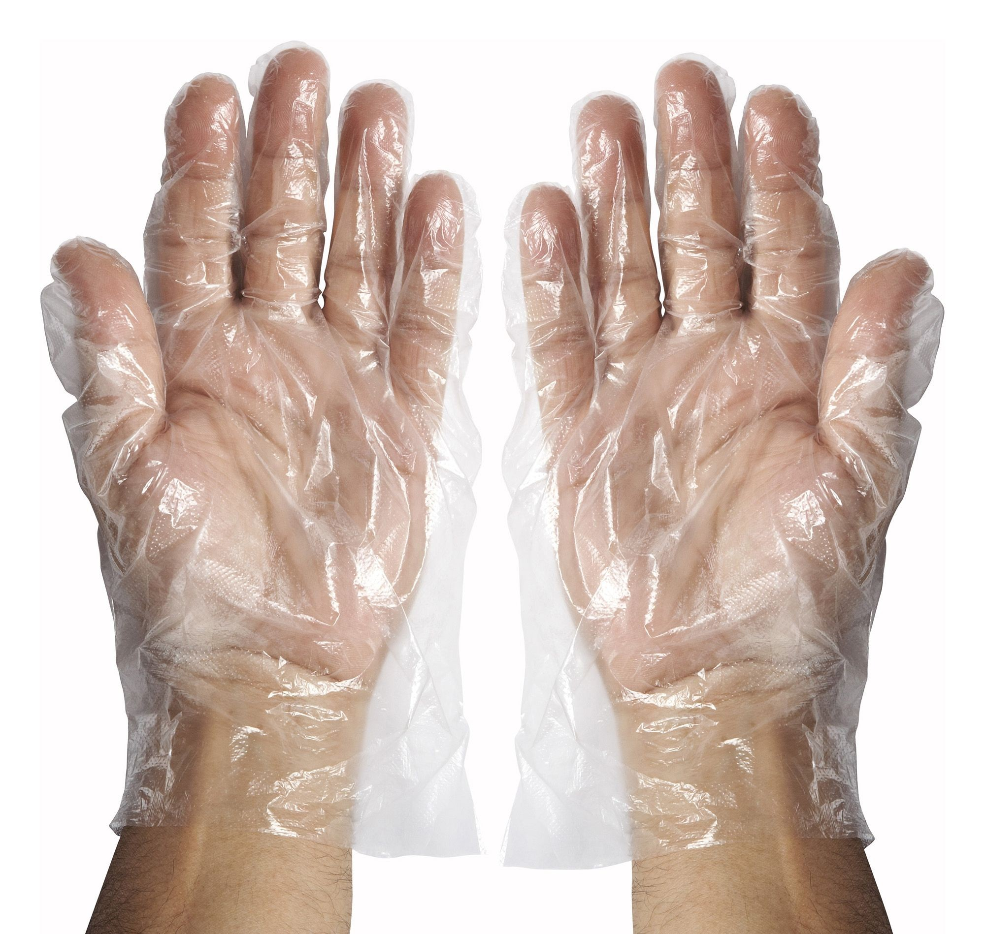 Winco GLP-L Disposable Textured Polyethylene Gloves, Large
