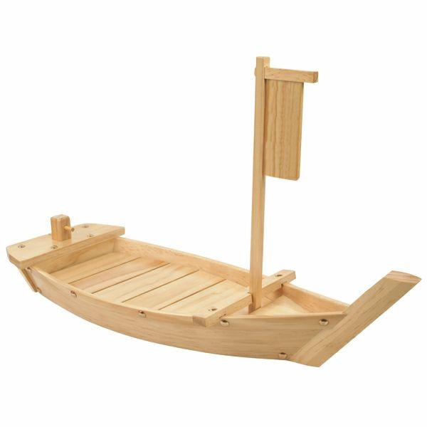 Thunder Group WOBOAT90 Large Wood Sushi Boat 35-1/2""