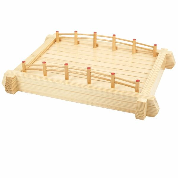 Thunder Group WOBR57 Large Wood Sushi Bridge 22""