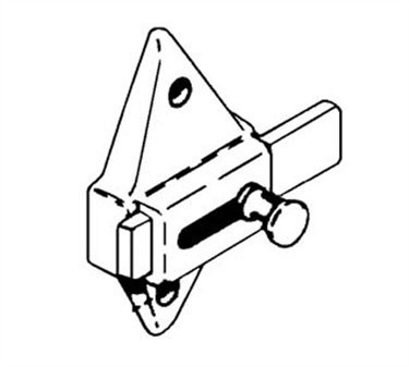 Franklin Machine Products  141-1038 Latch, Slide (Stall, 2.75Ctr )