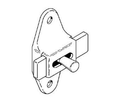 Franklin Machine Products  141-1050 Latch, Slide (Stall, 3.5Ctrs )