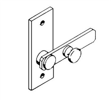 Franklin Machine Products  141-1108 Latch, Throw (Stall Door )