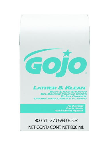 Lather & Klean Shampoo Bag in Box, Pleasant Scent, 800 Ml