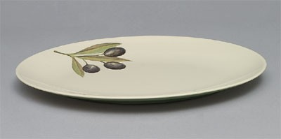 "Thunder Group LC218GR Laurel Melamine Oval Large Platter, 18-1/2"" x 11-5/8 """