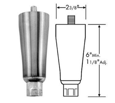 Leg (1/2-13, 6H, S/S Foot, Sn )